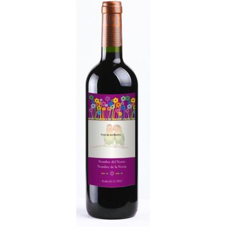 """adhesivo decorativo Etiqueta Vino """"Primavera"""" 20 uds."""