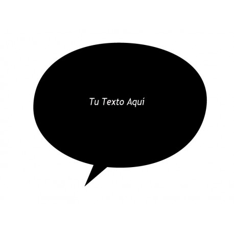 Bocadillo Texto Comic 11 producto vinilos