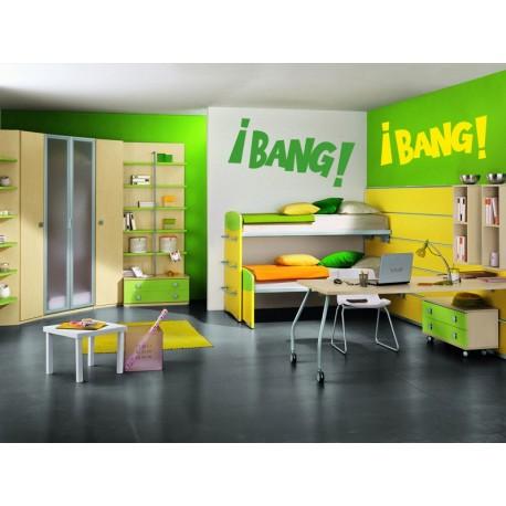 vinilos imagen producto Onomatopeya ¡BANG! Motivo