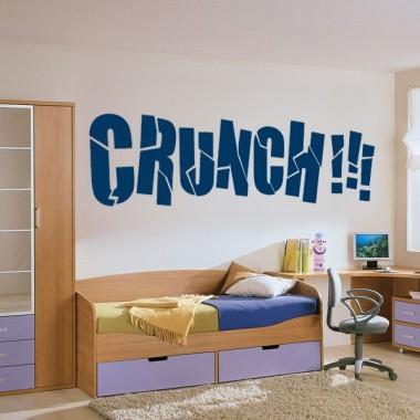 """pegatina pared Onomatopeya """"Crunch"""" Motivo"""