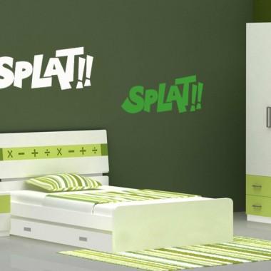 """Onomatopeya """"Splat"""" Motivo adhesivo decorativo ambiente"""