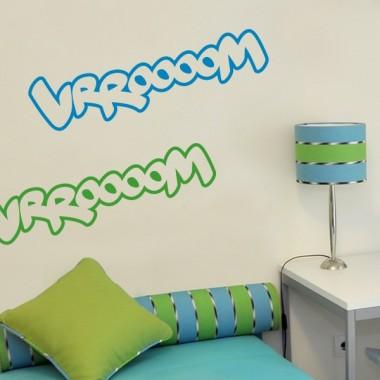 """adhesivo decorativo Onomatopeya """"vroom"""" Motivo"""