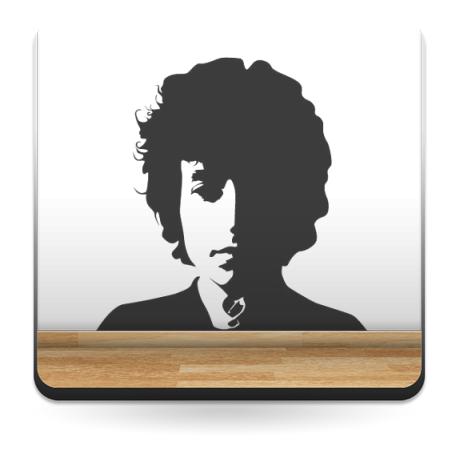Bob Dylan decoración con vinilo
