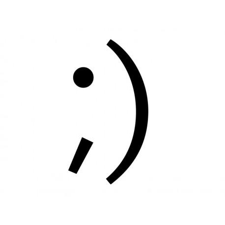 vinilos imagen producto Emoticono Guiño Sonrisa