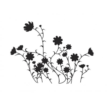 pegatina pared Flores Silvestres Motivo