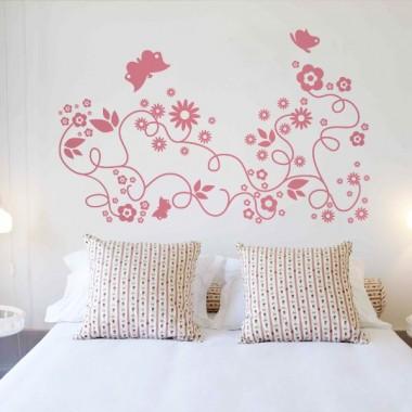 adhesivo decorativo Flores Mariposas Motivo