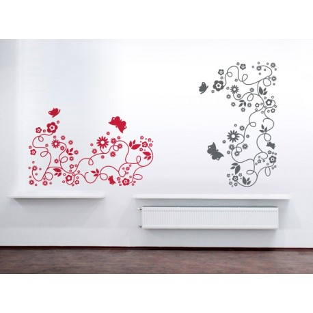 Flores Mariposas Motivo imagen vista previa