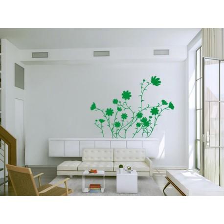 Flores Silvestres Motivo imagen vinilo decorativo