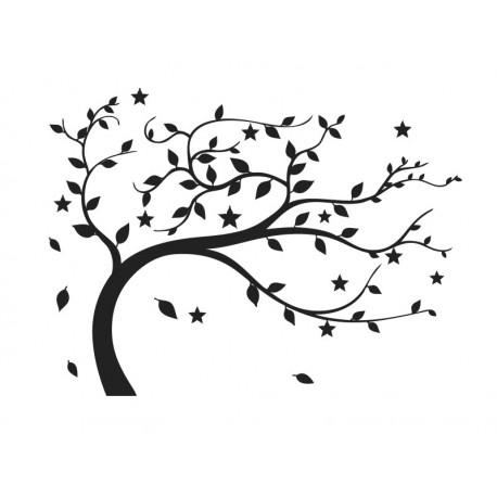 Árbol Vendaval decoración con vinilo