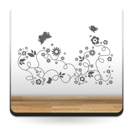 Flores Mariposas Motivo adhesivo decorativo ambiente