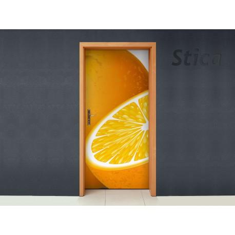 vinilo decorativo Puerta Naranjas