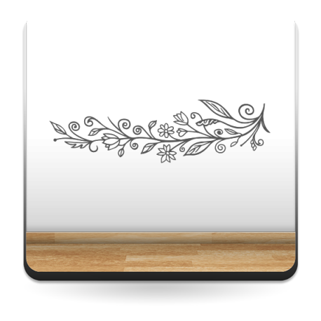 pegatina pared Floral Ornamental