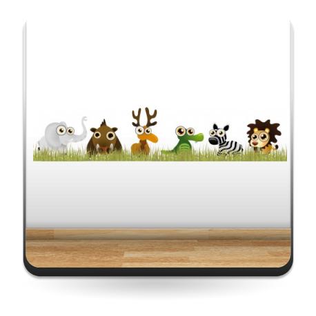 Animales Selva Familia II en Pegatina imagen vinilo decorativo