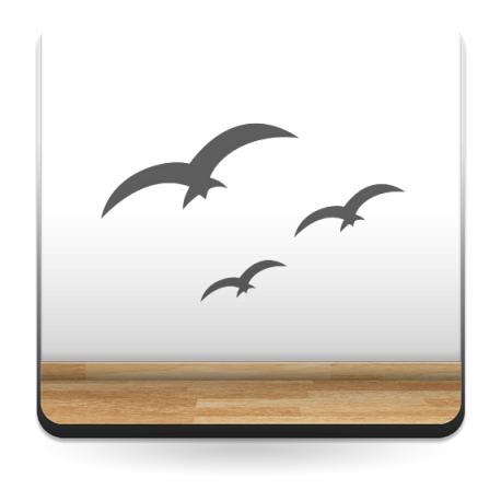 Aves Horizonte adhesivo decorativo ambiente