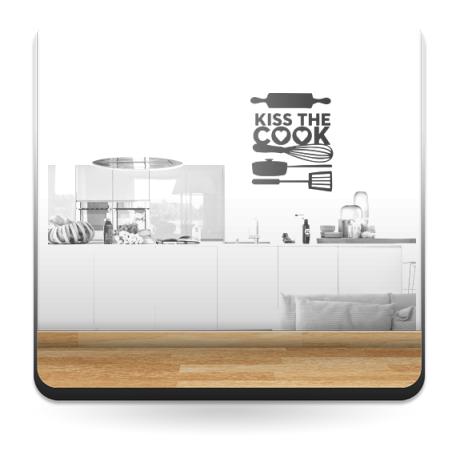 vinilo decorativo Cocina Beso