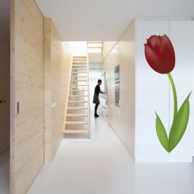 vinilos imagen producto Tulipán Rojo