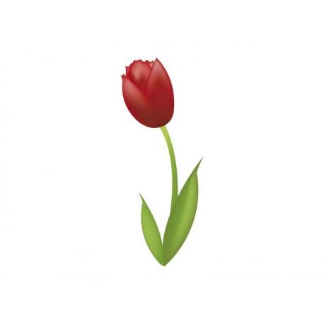 adhesivo decorativo Tulipán Rojo