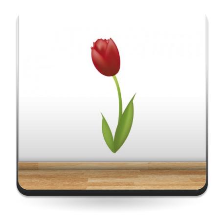 pegatina pared Tulipán Rojo
