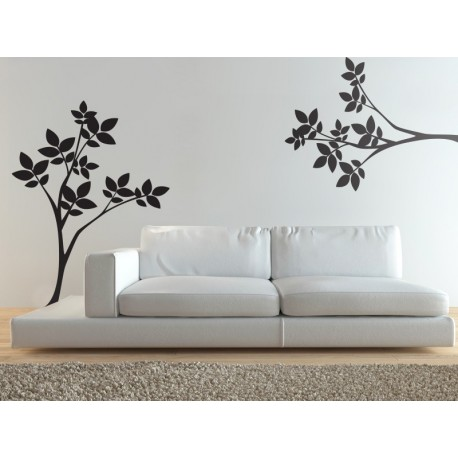 Floral Naturaleza decoración con vinilo