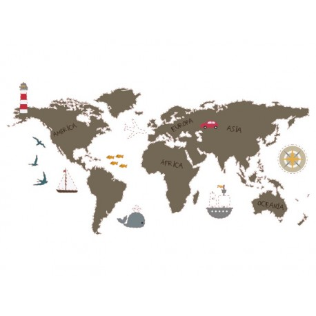 Mapa Mundi Preescolar producto vinilos