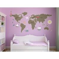 Mapa Mundi Preescolar