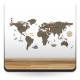 vinilo decorativo Mapa Mundi Preescolar