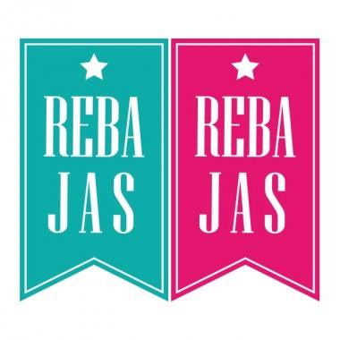 pegatina pared Rebajas Banderolas Reposicionables