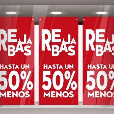 pegatina decorativa Rebajas hasta un 50 % Rojo Lona