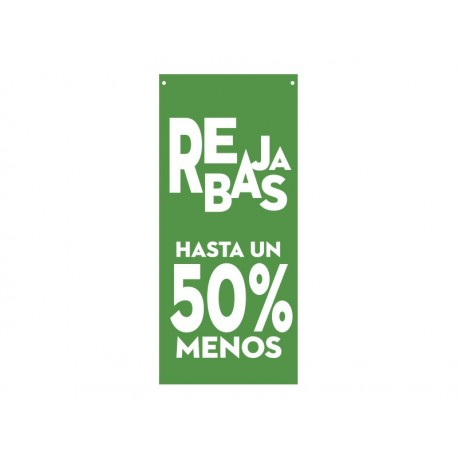 pegatina pared Rebajas hasta un 50 % Verde Lona