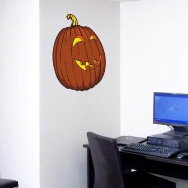 vinilos imagen producto Halloween Calabaza Sonrisa