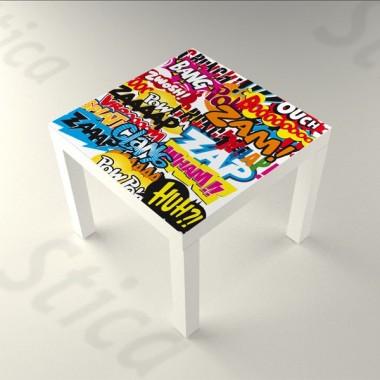vinilo decorativo Sonidos mesa 55 x 55