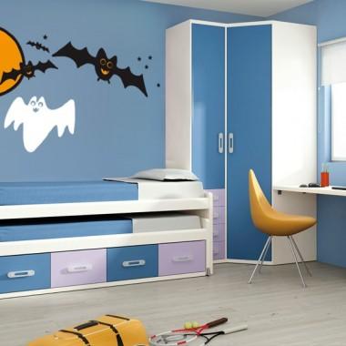 pegatina decorativa Halloween Escena
