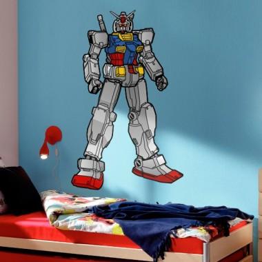 pegatina decorativa Super Héroe Robot
