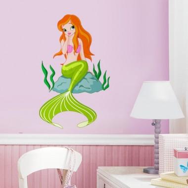 Sirenita II adhesivo decorativo ambiente