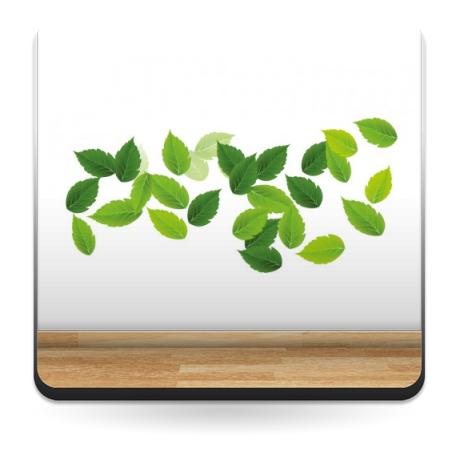 pegatina decorativa Hojas Verdes