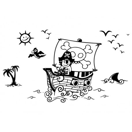 vinilos imagen producto Piratas a Babor