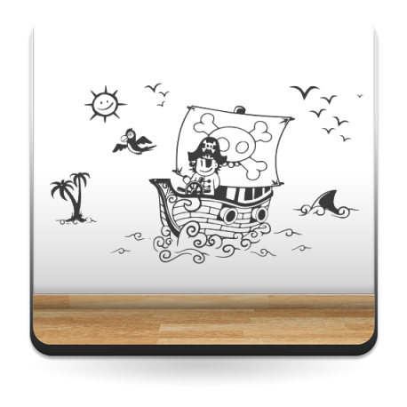 adhesivo decorativo Piratas a Babor