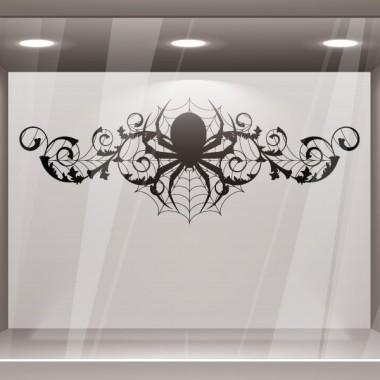 vinilo decorativo Halloween Ornamento Araña