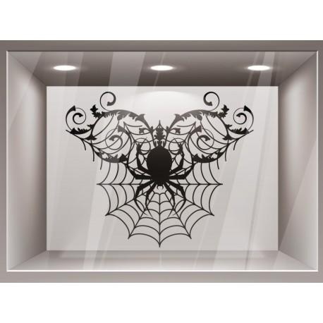 pegatina pared Halloween Ornamento Araña II