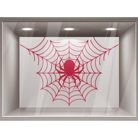 Halloween Tela de Araña decoración con vinilo