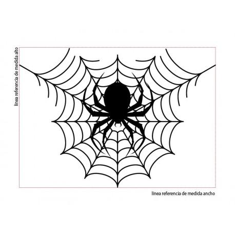 vinilo decorativo Halloween Tela de Araña