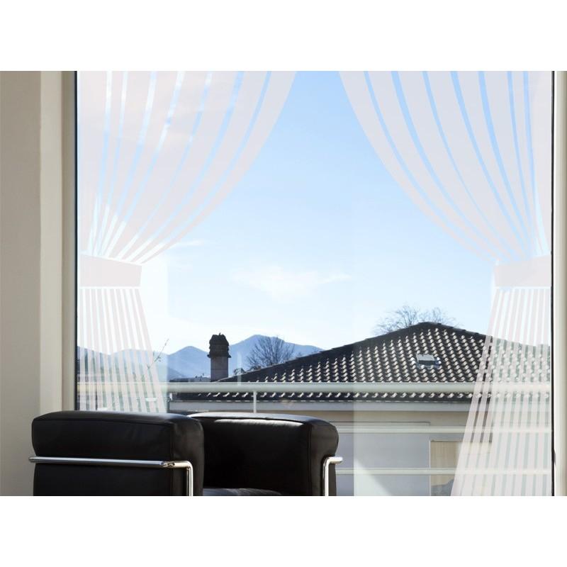 Vinilo cortina para cristales decoraci n - Cristal con vinilo ...