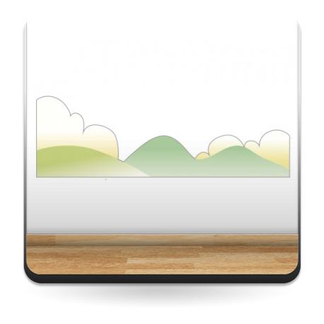 vinilo decorativo Montañas y Nubes Colección Alfy