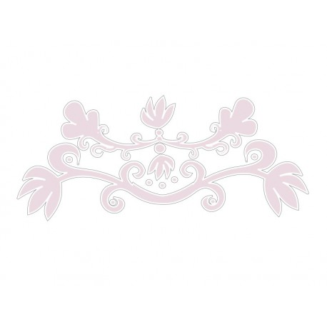 adhesivo decorativo Ornamento Rosa
