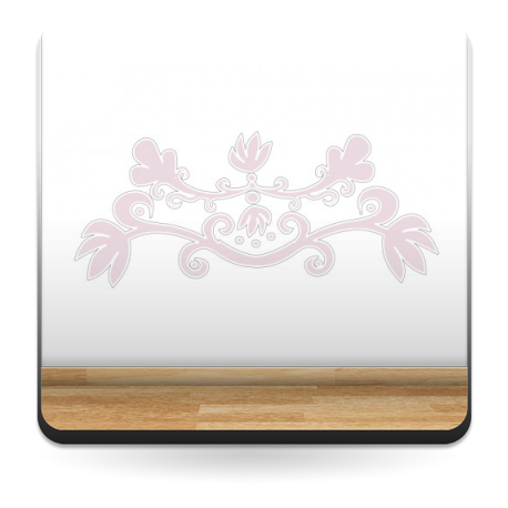 pegatina pared Ornamento Rosa