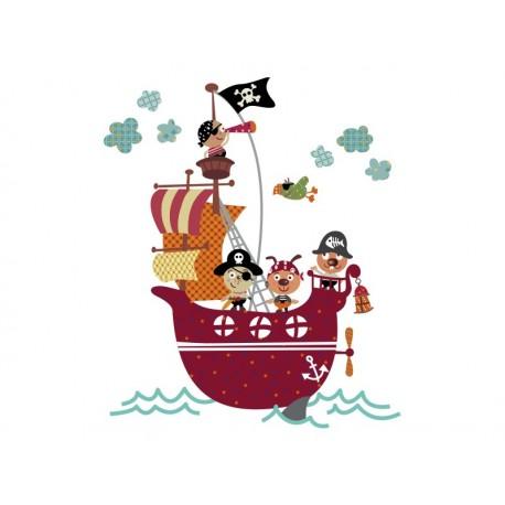 Barco Pirata imagen vinilo decorativo