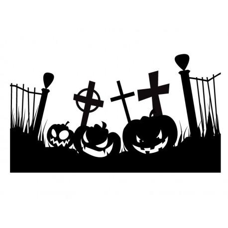 pegatina decorativa Halloween Calabazas Party