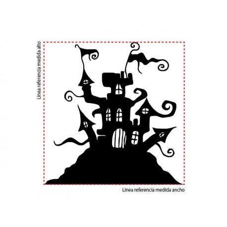Castillo del Terror decoración con vinilo