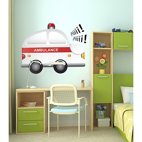 pegatina decorativa Ambulancia
