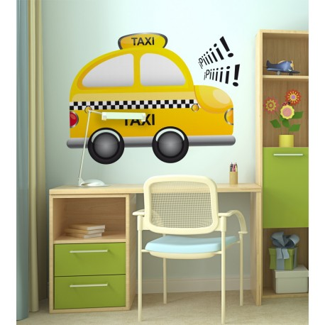 Taxi adhesivo decorativo ambiente